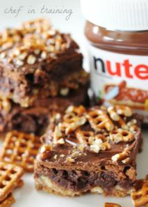 Nutella Pretzel Brownies by: Chef in training