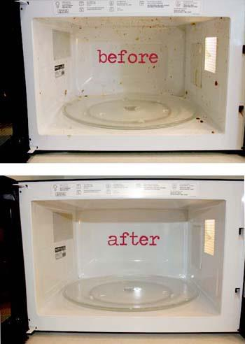 cup vinegar + 1 cup hot water + 10 min microwave = steam clean micro ...
