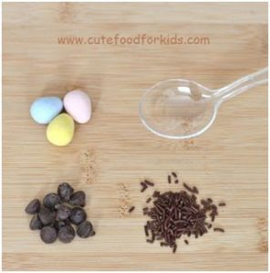 Chocolate Bird nest on spoon for Easther 2