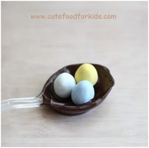 Chocolate Bird nest on spoon for Easther 7