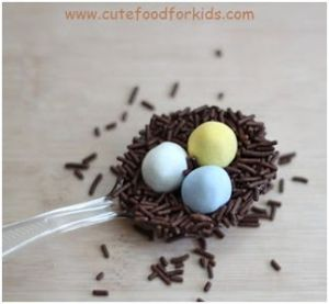 Chocolate Bird nest on spoon for Easther 9