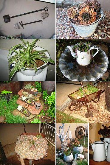 Recycle huisgoed in jou tuin kreatiewe kos idees for Klein tuin uitleg