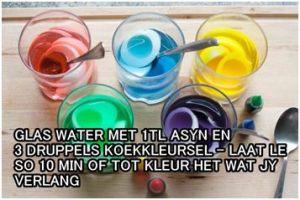 Gekleurde eiers - Kleursel