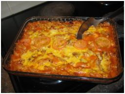 Winter Sausage and Tomato Pasta Bake