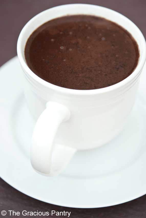 Coconut hot chocolate- The gracious Pantry