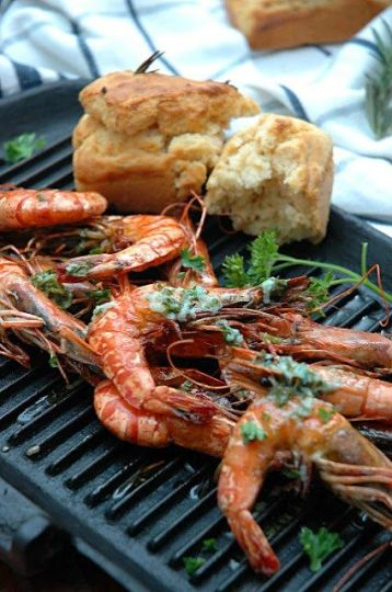 Grilled Prawns with Lemon Butter - Foto My easy cooking