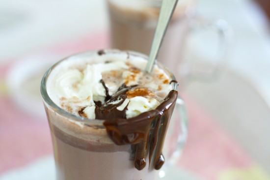 Nutella hot chocolate - splash of vanilla