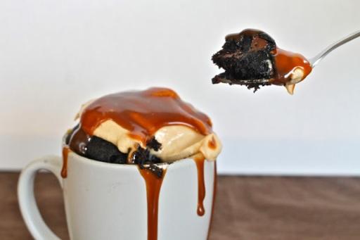 mug fudge peanutbutter