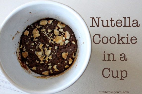 mug nutella cookie