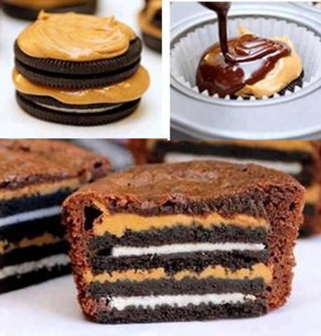 oreo peanutbutter cupcakes sjokolade