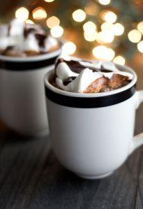 Peanut Butter Hot Chocoloate www.sweetremedy.com