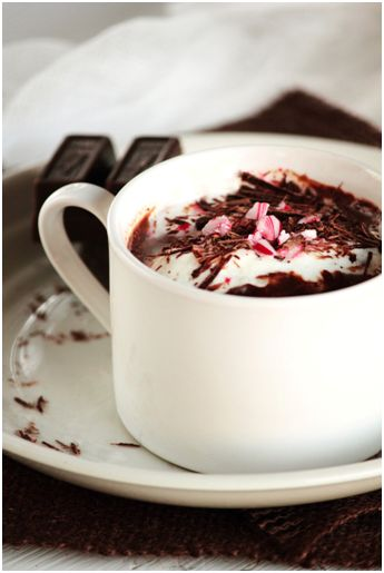 Peppermint Hot Chocolate www.pastryaffair