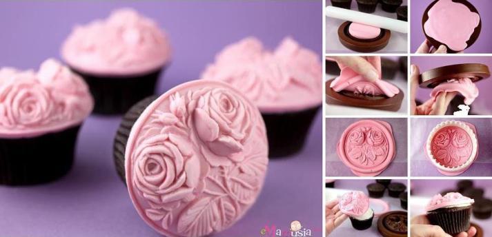cupcakes en fondant