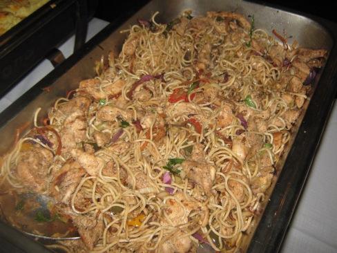 Spagetti en hoender pan