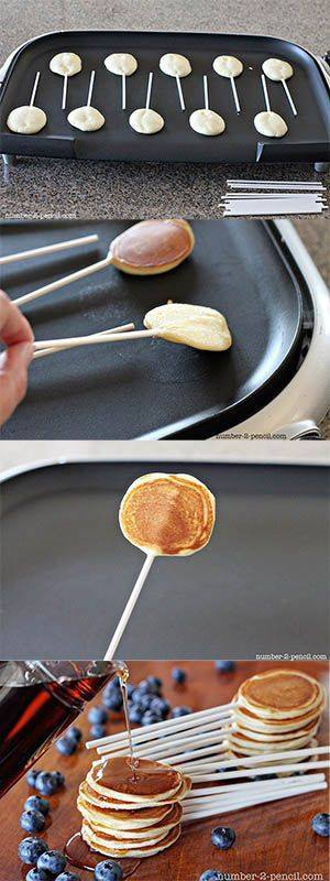 Food art pancake pops idea for ur kids