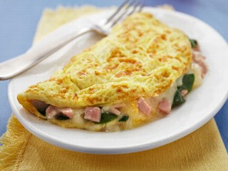 Spinach-Ham-Cheese-Omelet