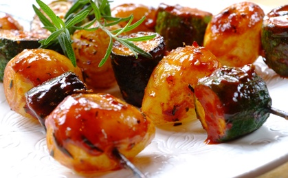 Sweet Onion Skewers - what is for dinner