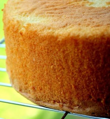 Egg-Yolk Sponge Cake- photo Prema's Culinary