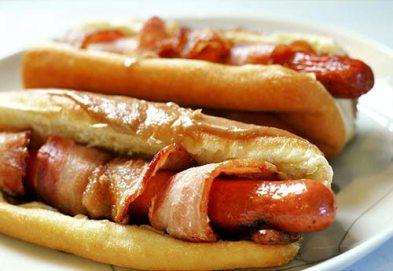 Hotdogs met spek