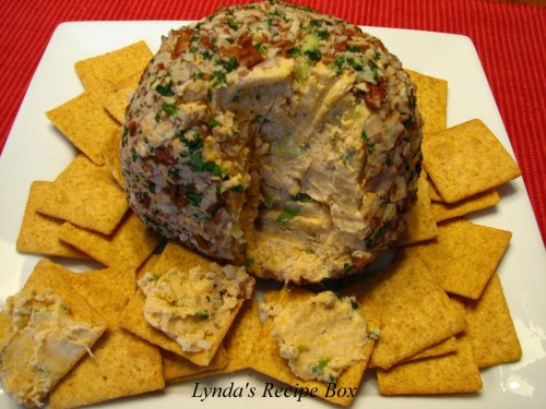 Cheese ball http://www.lyndasrecipebox.com/