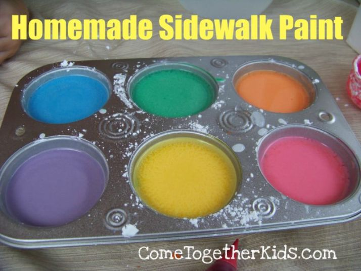 Homemade sidewalk paint- Come together kids