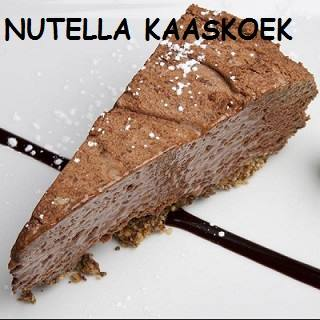 nutella kaaskoek