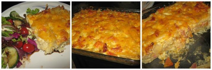 Mac en cheese met wit uiesop
