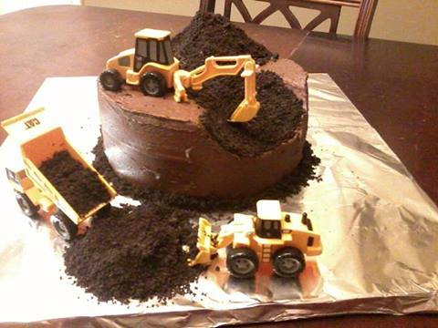 Building Site Birthday Cake