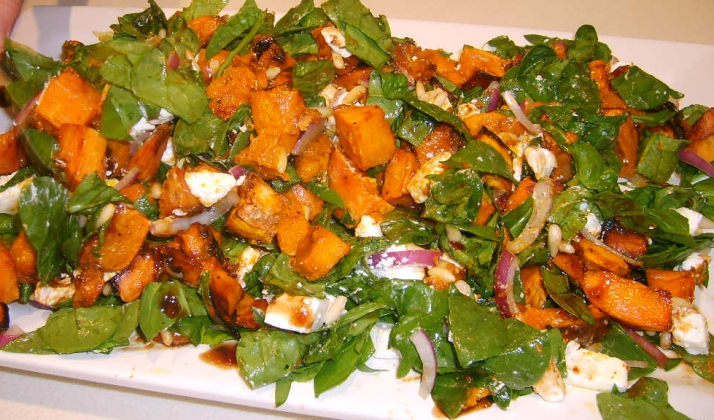 low carb 9 - butternut spinasie uie