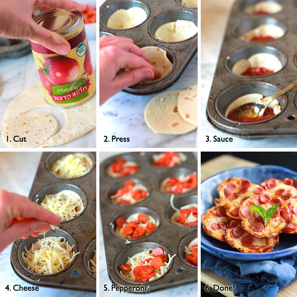 Mini pizzas met tortillas