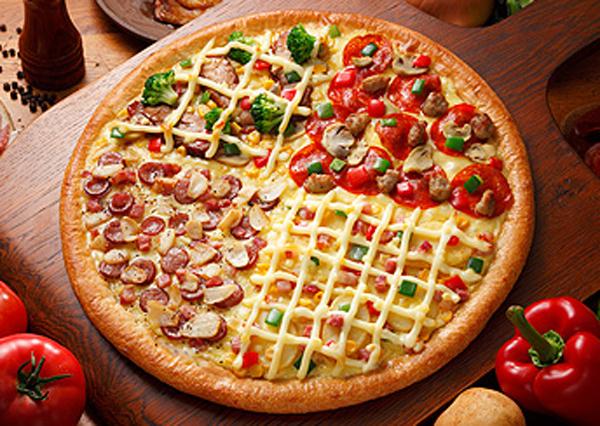 Maak 1 pizza met 4 geure